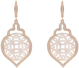 Mother of Pearl Latelita - Rosegold Carved Teardrop Pearl Earring White