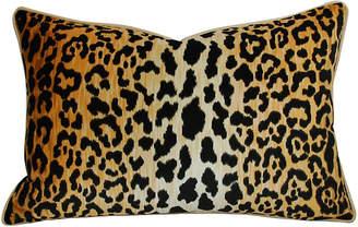 One Kings Lane Vintage Leopard Spot Safari Velvet Pillow