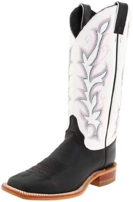 "Justin Boots Women's U.S.A. Bent Rail Collection 13"" Boot Wide Square Double Stitch Toe Leather Outsole"