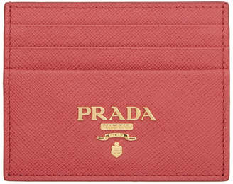 c69fe4377a4c Prada Pink Saffiano Card Holder