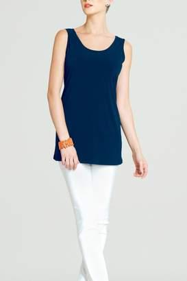 Clara Sunwoo Blue Sleeveless Tunic Top