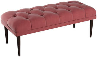 One Kings Lane Carrie Tufted Bench - Dusty Rose Velvet