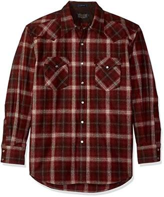 Pendleton Men's Long Sleeve Button Front Classic-fit Canyon Shirt