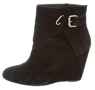 Tila March Round-Toe Wedge Booties