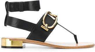 Tod's chain strap flat sandals