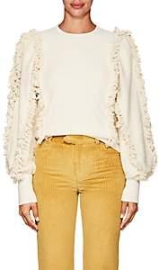 Ulla Johnson Women's Hali Fringed Cotton Terry Sweatshirt-Ivorybone