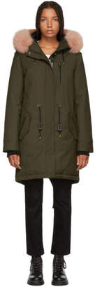 Mackage SSENSE Exclusive Green Rena-D Parka