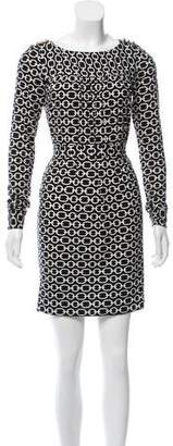 Milly Printed Long Sleeve dress