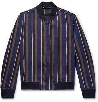 Todd Snyder Striped Linen-blend Bomber Jacket