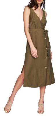 1 STATE 1.STATE Button Front Wrap Dress