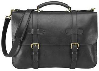 Lotuff Leather Lotuff English Briefcase in Black