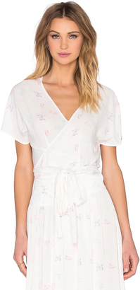 Wildfox Couture Short Sleeve Wrap Top $79 thestylecure.com