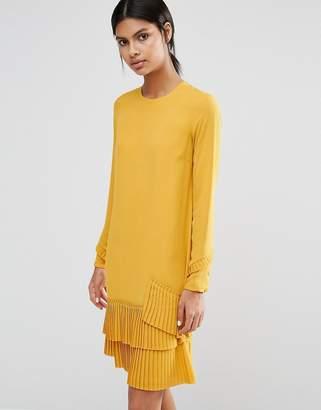Warehouse Pleated Hem Shift Dress $68 thestylecure.com