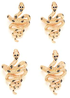 L'OBJET L'Objet Lobjet - Set Of Four Snake Gold Plated Napkin Rings - Womens - Gold Multi