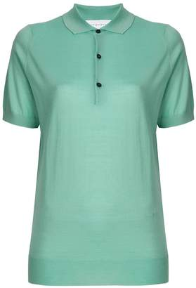Victoria Beckham contrast button polo shirt