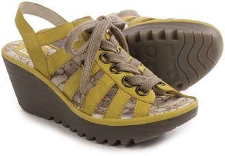 Fly London Yito Sandals - Leather, Wedge Heel (For Women) $89.99 thestylecure.com