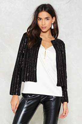 Nasty Gal Sequeen Velvet Cropped Jacket