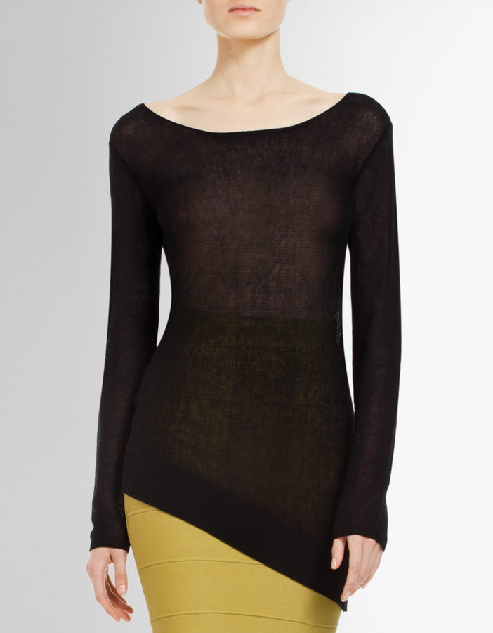 BCBGMAXAZRIA Violet Asymmetrical Sweater
