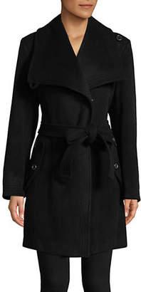 London Fog 34' Belted Envelope Collar Coat
