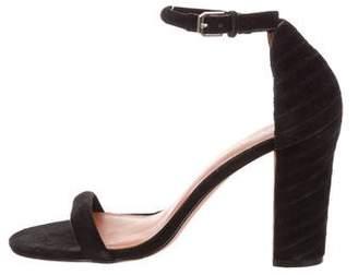 Rebecca Minkoff Suede Ankle Strap Sandals