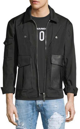 DSQUARED2 Stretch-Cotton Bomber Jacket