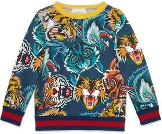 Gucci Kids Children's animal faces print sweatshirt