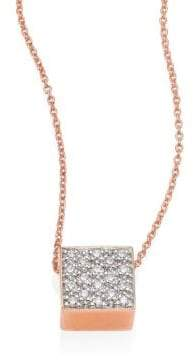 ginette_ny Baby Diamond Ever 18K Rose Gold Pendant Necklace