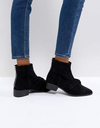 Pull&Bear Ankle Boot With Twist Front Detail