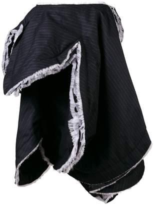 Comme des Garcons asymmetric pinstripe skirt