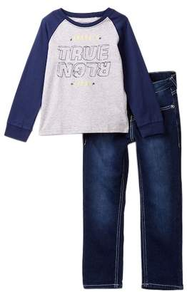 True Religion Burned Out Tee & Jeans Set (Toddler Boys)