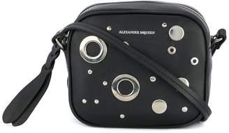 Alexander McQueen mini camera eyelet and stud shoulder bag