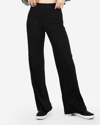 Express High Waisted Modern Rib Wide Leg Pant