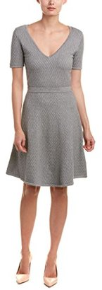 Trina Turk Women's Laila Textured Snowy Sweater Fit N Flare Dress $99.99 thestylecure.com