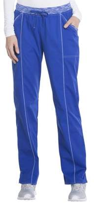 Scrubstar Fashion Collection Women's Drawstring Scrub Pant with Space-Dyed Contrast