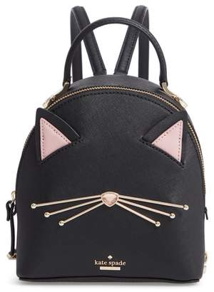 kate spade cats meow binx leather backpack