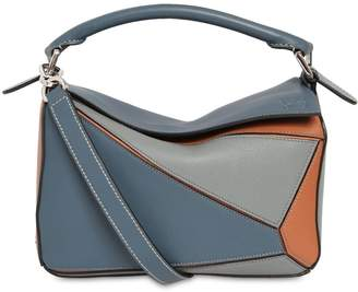 bd933fc39 Loewe Small Puzzle Color Block Leather Bag