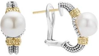 Women's Lagos Luna Pearl Stud Earrings $450 thestylecure.com
