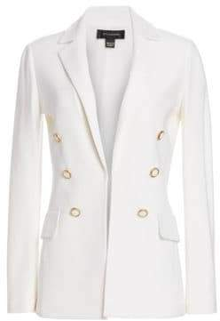 St. John Women's Gail Knit Wool-Blend Blazer - White - Size 4