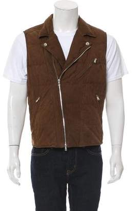 Brunello Cucinelli Quilted Leather Vest w/ Tags