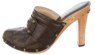MICHAEL Michael Kors Leather Studded Clogs