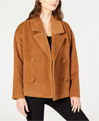 Eileen Fisher Wool Notched-Collar Short Jacket, Regular & Petite