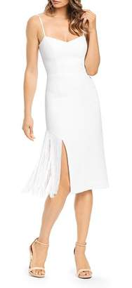 Dress the Population Rory Fringe-Detail Dress