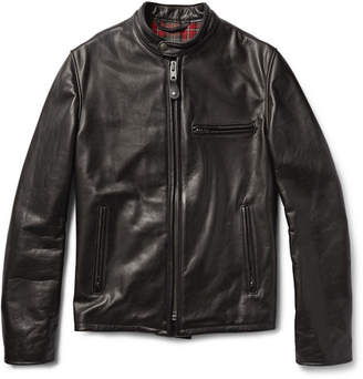Schott Perfecto 530 Slim-Fit Leather Café Racer Jacket