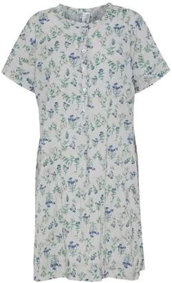 Mcverdi Light Grey Tunic Dress With Flower Print