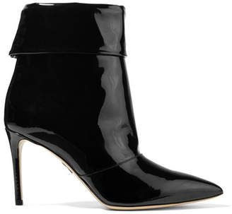 Paul Andrew Banner Patent-leather Ankle Boots - Black