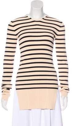 Celine Striped Rib Knit Sweater