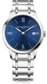 Baume & Mercier Baume& Mercier My Classima 10382 Stainless Steel Bracelet Watch - Silver Blue