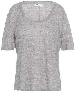 Frame Melange Linen-jersey T-shirt