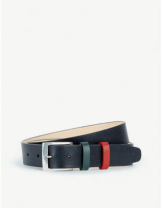 Paul Smith Colour-blocked keeper leather belt