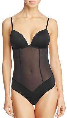 Fine Lines Low Back Convertible Bodysuit $69 thestylecure.com